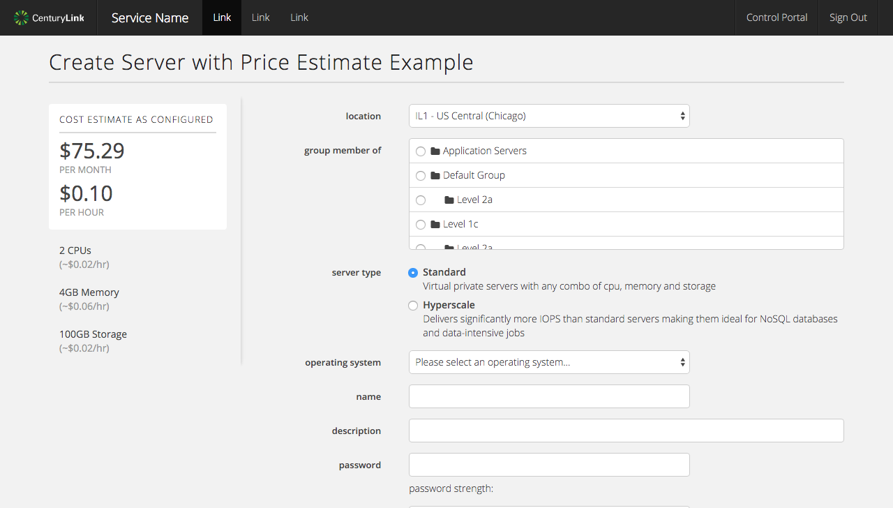 Estimate Price